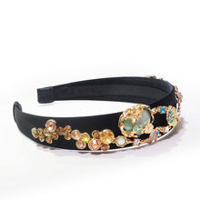 Load image into Gallery viewer, Enamel Glaze Forest Crystal Embellishment Headband