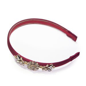Utopia Floral Crystal-embellished Art Deco Headband