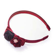 Load image into Gallery viewer, Floral-appliquéd and Grosgrain Bow Headband