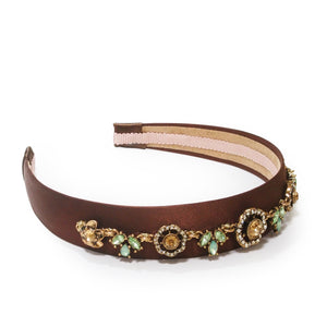 Crystal and Floral Pastel Embellishment Statement Headband