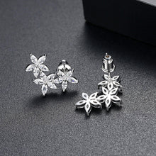 Load image into Gallery viewer, Marquise Cubic Zirconia Triple Blossoms Earrings