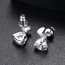Load image into Gallery viewer, Charming Heart Cut Cubic Zirconia Stud Earrings