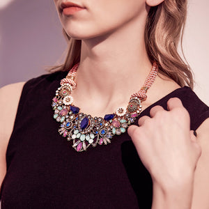 Delightful Bloom Flower Collar Statement Necklace