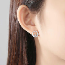 Load image into Gallery viewer, Stylish and Artful Circle Stud Earrings