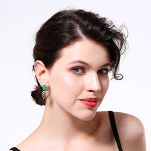 Load image into Gallery viewer, Monstera Leaf Dangle Earrings