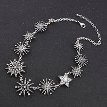 Load image into Gallery viewer, Crystal-embellished Snowflakes Collar Necklace
