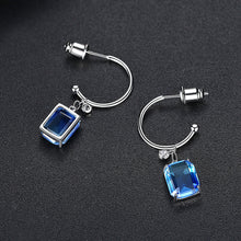 Load image into Gallery viewer, Modern Chic Emerald Cut Cubic Zirconia Drop Earrings