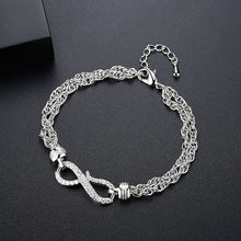 Load image into Gallery viewer, Illustrious Infinity Cubic Zirconia Bracelet