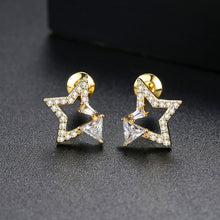 Load image into Gallery viewer, Starry Night North Star Cubic Zirconia Stud Earrings