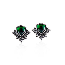 Load image into Gallery viewer, Art Deco Botanical Stud Earrings