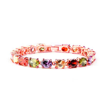 Load image into Gallery viewer, Rainbow Multi-Colored Cubic Zirconia Bracelet