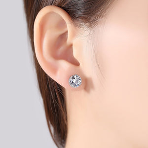 Lotus Flower Brilliant Stud Earrings
