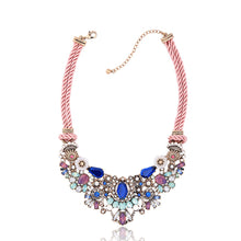 Load image into Gallery viewer, Delightful Bloom Flower Collar Statement Necklace