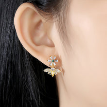 Load image into Gallery viewer, Multicolored Cubic Zirconia Honeybee Earrings