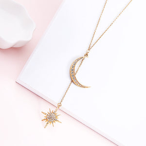 Celestial Moon & Star Pendant Necklace