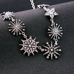Crystal-embellished Snowflakes Collar Necklace