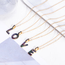 Load image into Gallery viewer, Dainty Initial Alphabet Pendant Necklace