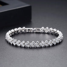 Load image into Gallery viewer, Delicate Galaxy Round Cubic Zirconia Three Row Tennis Bracelet