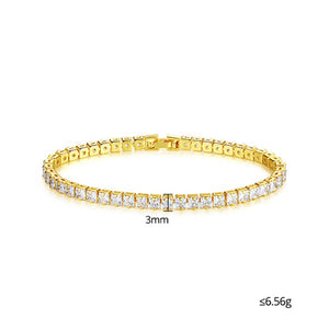 Captivating Shimmer Cubic Zirconia Tennis Bracelet