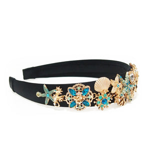 Barris Ocean of Dreams Crystals Embellished Satin Headband