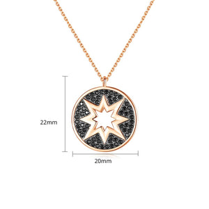 Cubic Zirconia Celestial Star Pendant Necklace