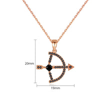 Load image into Gallery viewer, Cubic Zirconia Cupid's Bow & Arrow Necklace