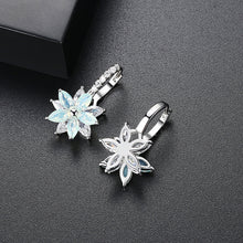 Load image into Gallery viewer, Layering Marquise Shaped Floral Statement Earrings
