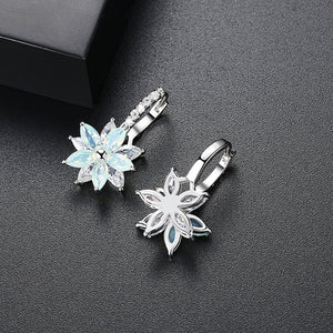 Layering Marquise Shaped Floral Statement Earrings