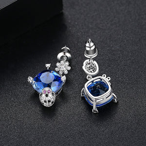 Delightful Ladybird Cubic Zirconia Drop Earrings