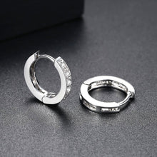 Load image into Gallery viewer, Glittering Classic and Timeless Hoop Earrings