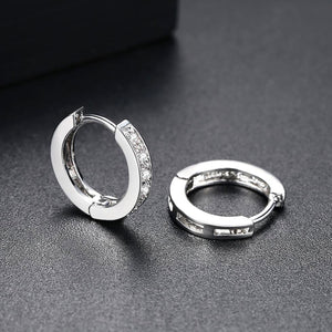 Glittering Classic and Timeless Hoop Earrings