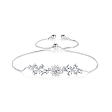 Load image into Gallery viewer, Shimmering and Dainty Floral Infinity Adjustable Bracelet