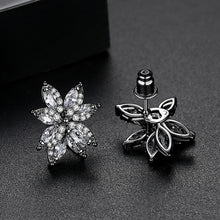 Load image into Gallery viewer, Brilliant Marquise-shaped Cubic Zirconia Flower Petals Cluster Earrings
