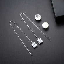 Load image into Gallery viewer, Modern and Elegant Faux Pearl Chain Drop Earrings