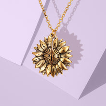 Load image into Gallery viewer, Joyful Sunflower Locket Pendant Necklace