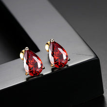 Load image into Gallery viewer, Classic Sparkle Pear-cut Cubic Zirconia Stud Earrings
