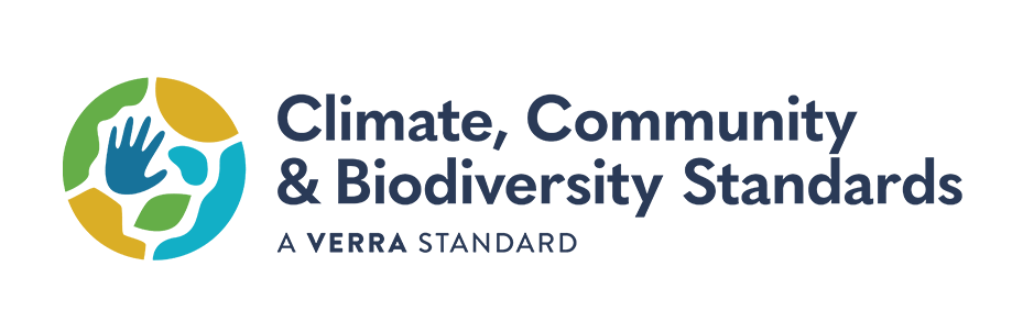 This is the logo of the Climate, Community and Biodiversity Standards, one of the leading standards for climate protection projects for climate neutrality.