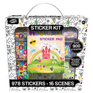 Girly Sticker Activity Kit, 1000ct