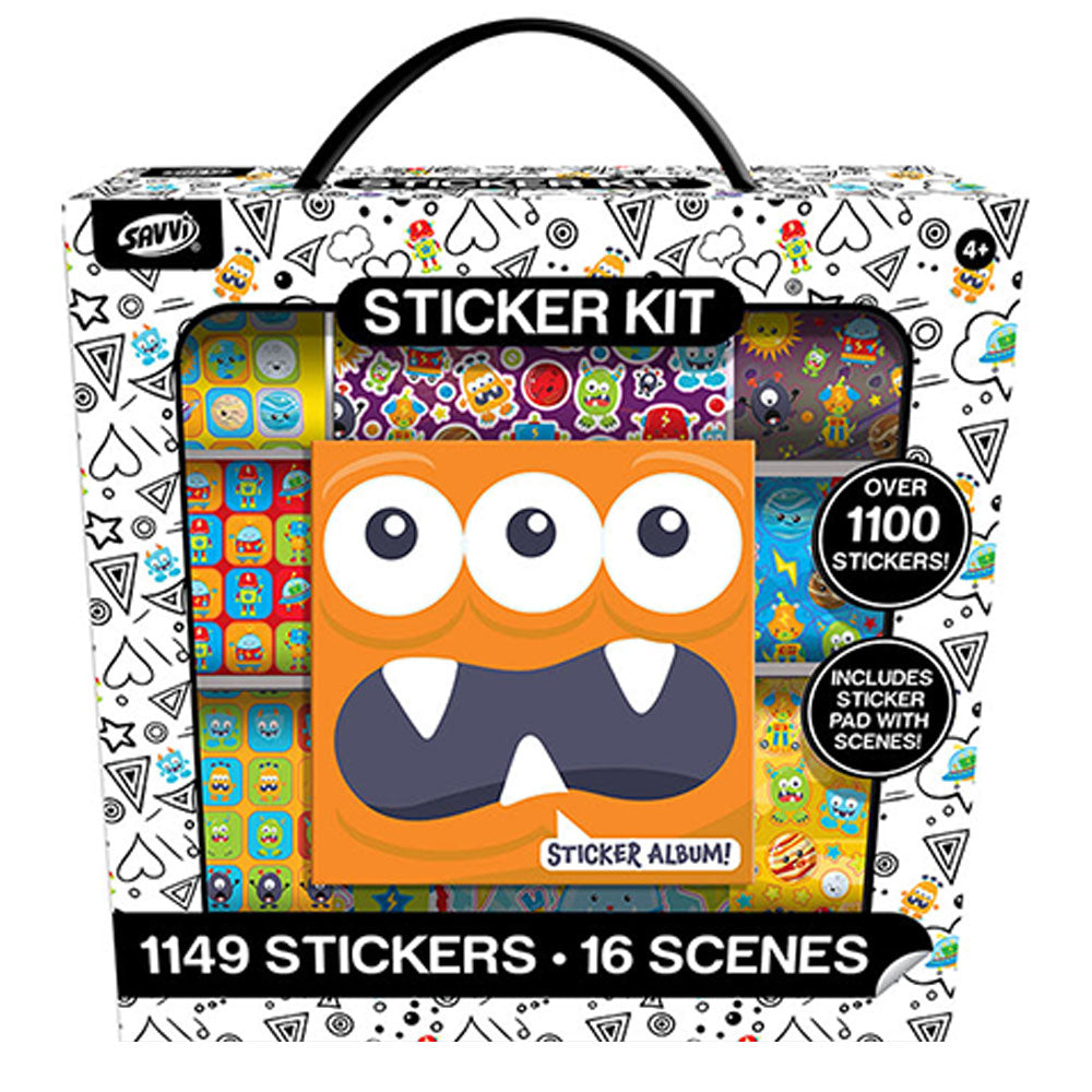 Monsters Sticker Activity Kit, 1000ct