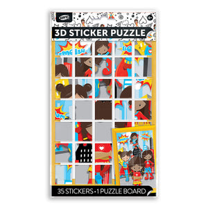 Female Super Heros Puzzle Bag of Stickers
