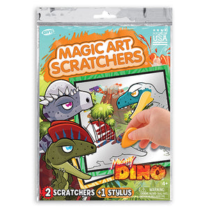 Mighty Dino Magic Art Scratchers Bag