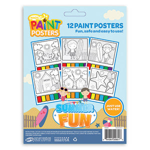 Summer Fun Beach Magic Paint Poster