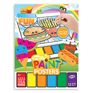 Summer Fun Picnic Foods Magic Paint Poster