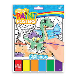 Magic Paint Poster Baby Dino