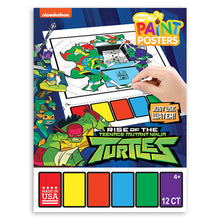 Load image into Gallery viewer, Nickelodeon Teenage Mutant Ninja Turtles Rise of TMNT Magic Paint-A-Poster