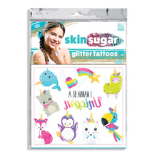 Load image into Gallery viewer, Skin Sugar I Wanna Be a Unicorn Glitter Costume Tattoos