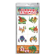 Load image into Gallery viewer, Dino Might Tear & Share Tattoos