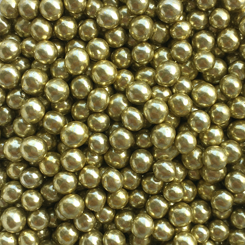 Metallic Gold Pearls (4mm)