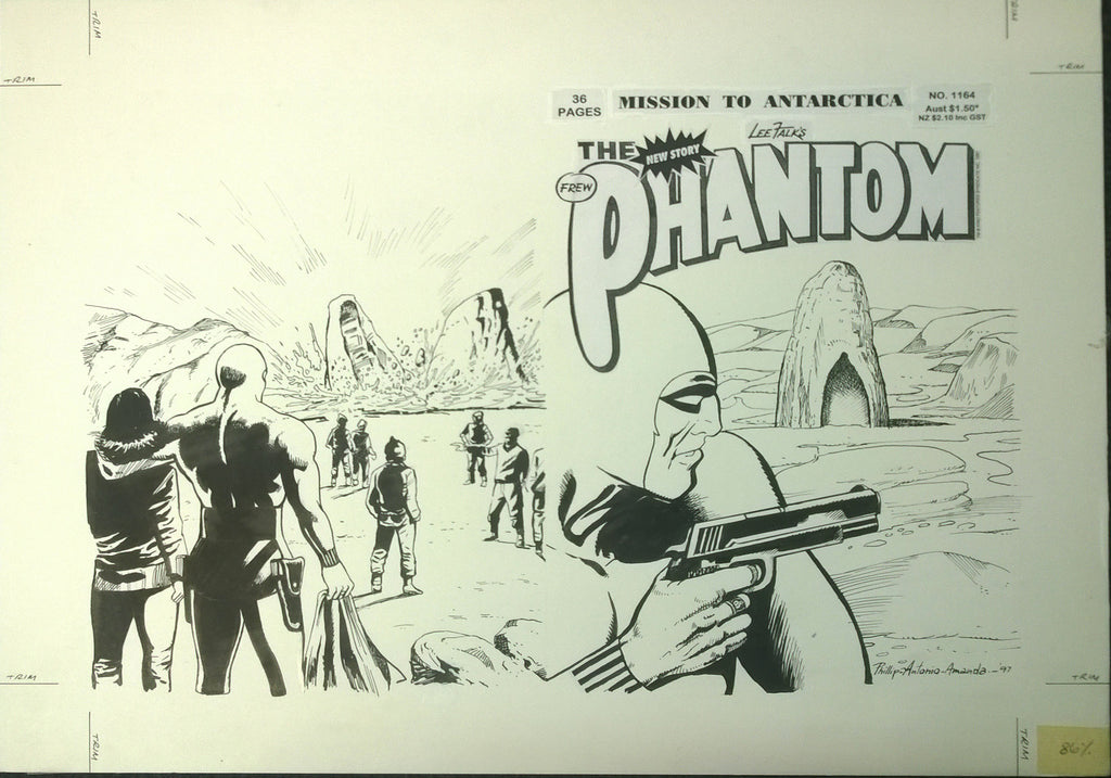 Original Cover Drawing of Antonio Lemos - Issue 1164 + Comic