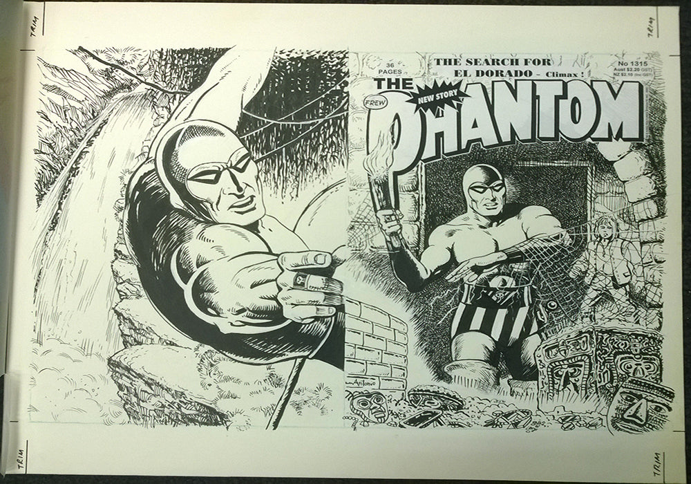 Original Cover Drawing of Antonio Lemos - Issue 1315 + Comic
